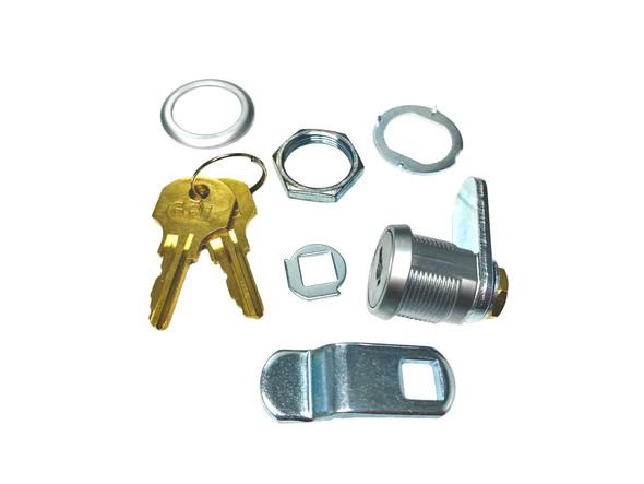"""CCL B15751 CAT45 Cam Lock, 5/8"""" Brushed Chrome/26D, Keyed Alike"""
