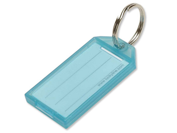 Lucky Line 60400-30 Blue Key Tag with Split Ring 100/Box