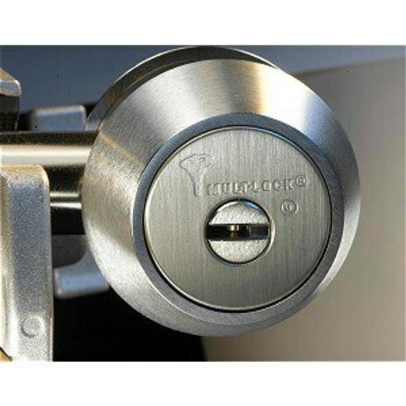 Mul-T-Lock 248BP-HD2-26 Hercular D/C Deadbolt Brushed Chrome, Keyed Alike