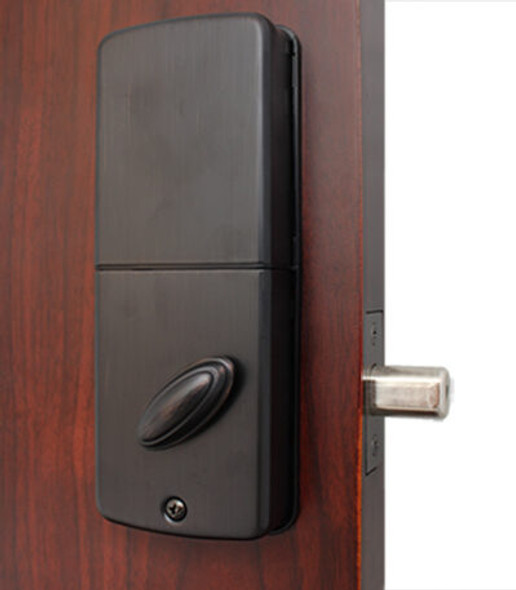 Lockey USA EB915OIL Electronic Combination Deadbolt (Bluetooth), Antique Bronze