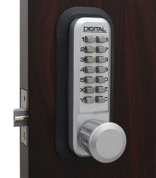 Lockey 2830MG Pushbutton Lock, Adjustable Deadlatch