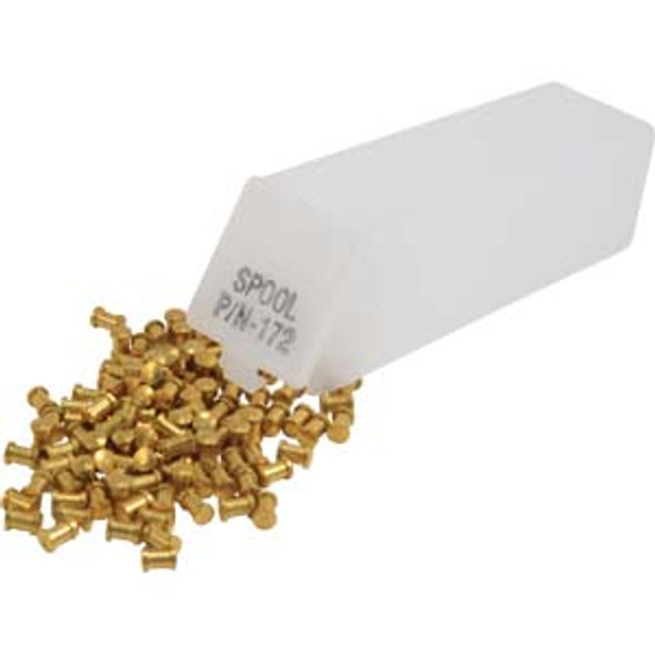 Spool Top Pins, .172 Brass 100 Pack