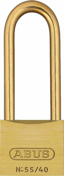 Abus 55MBHB/40KA 5403 Brass Body Padlock, Long Brass Shackle, Keyed Alike 5403