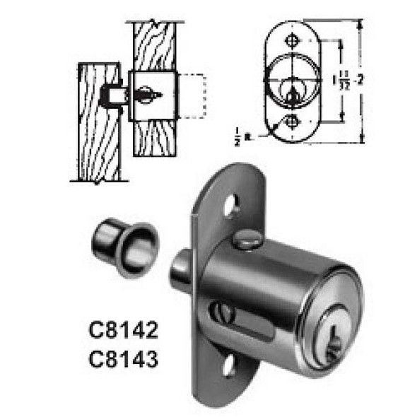 Compx National C8142 14A Sliding Door Lock, Keyed Alike #915