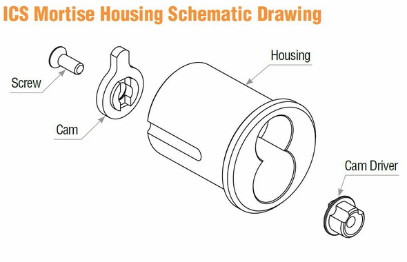 GMS ICS  Mortise Housing For LFIC Schlage Style Core, Dark Bronze 10B