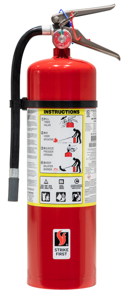 Strike First SF-ABC680, 10 LB Multi-Purpose Dry Chemical Portable Fire Extinguisher