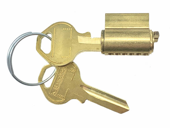 Master Lock 295W27 Cylinder, for Padlock 27K Keyway Keyed Alike 10L001