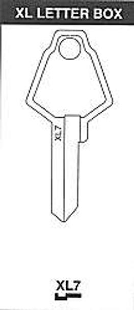 JET XL7 Key Blank fits XL Mailbox Locks