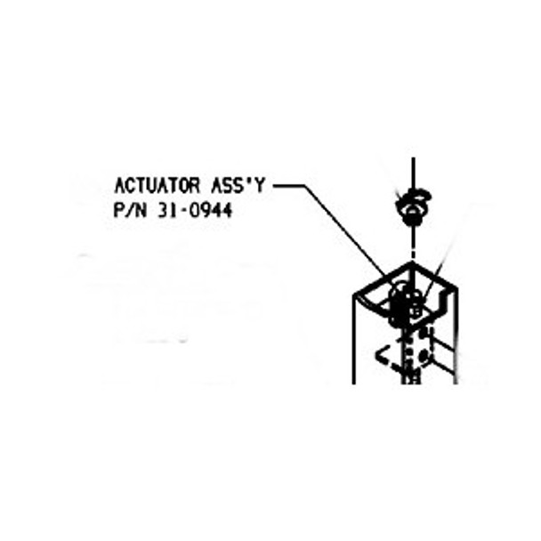 Adams Rite 31-0944 Top Actuator for 8600 Exit Device