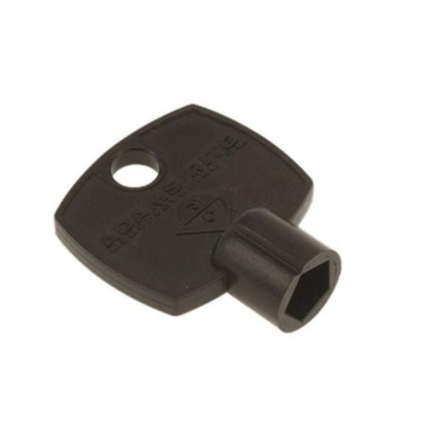 Adams Rite 25-0480 Dog Key, Black Plastic