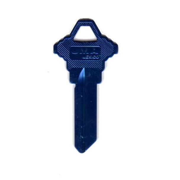 JMA SLG-3AM Aluminum Key Blank, Dark Blue SC1