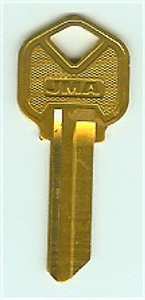 JMA KWI-1 AL-YE (AY) Key Blank Aluminum Yellow for Kwikset KW1