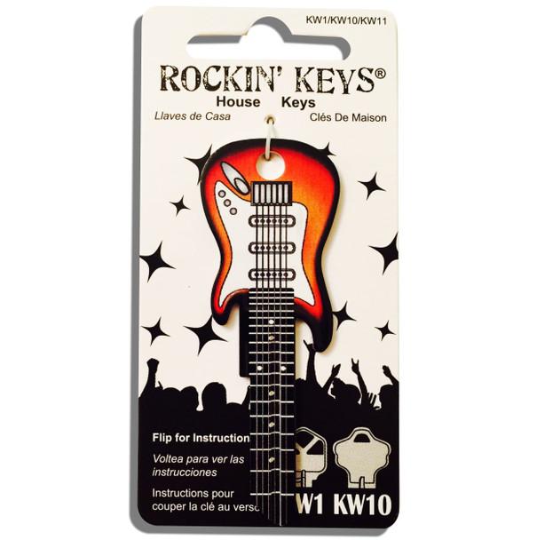 Rockin Key Blank, 3663-KW1 Sunburst Fender Guitar