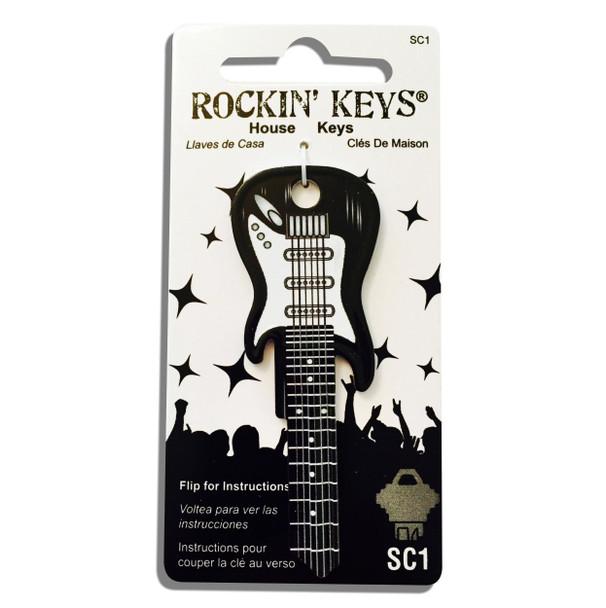 Rockin Key Blank, 3681-SC1 Black Fender Guitar
