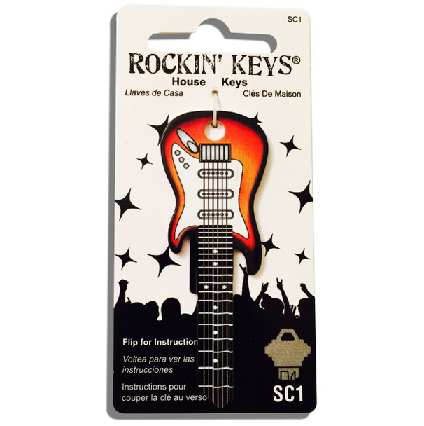 Rockin Key Blank, 3683-SC1 Sunburst Fender Guitar