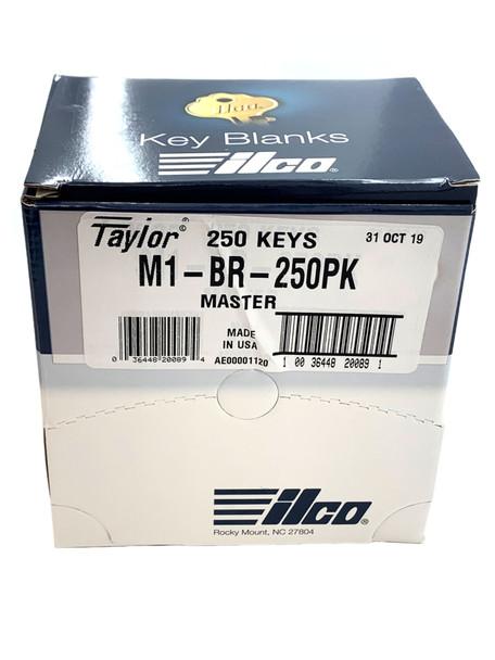 Ilco Taylor M1-BR-250PK Brass Key Blanks, 250 Per Box