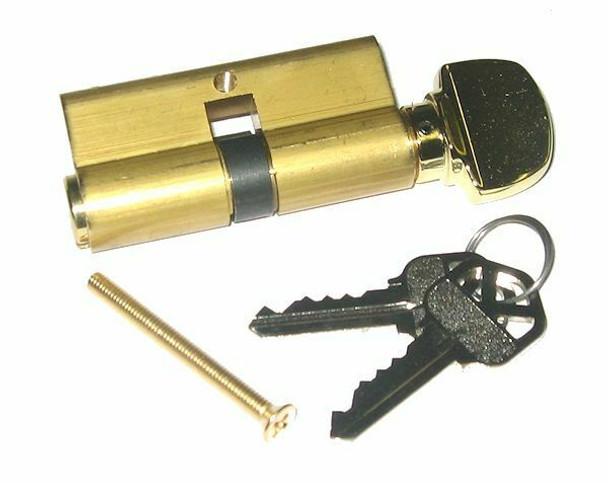 Ilco 52225KS-03 Profile Cylinder KW1 Brass Finish, Cam Position 2, Custom Keyed