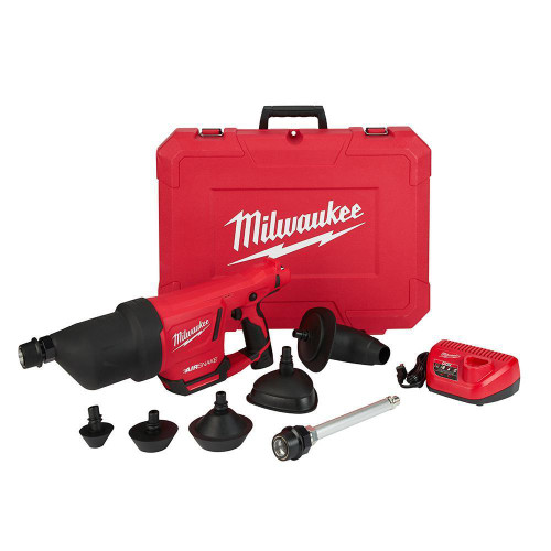 Milwaukee 2572B-21 M12 Airsnake 12-Volt Lithium-Ion Cordless Drain Cleaning Air