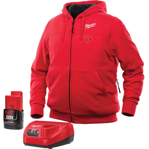 Milwaukee 301R-21XL M12 Heated Hoodie Kit - Red, XL