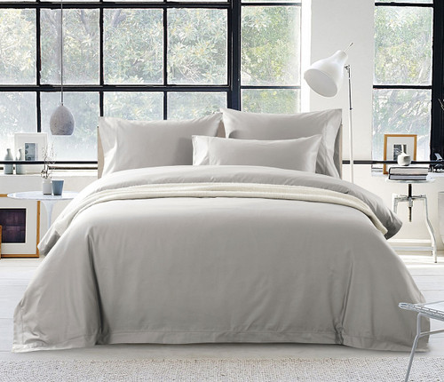 1200 Thread Count Egyptian Cotton Quilt Cover Set | French Beige