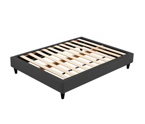 Velvet Luxe Bed Base | Charcoal