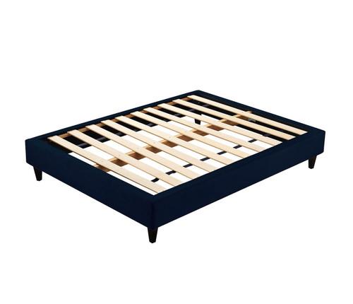Velvet Luxe Bed Base | Navy Blue