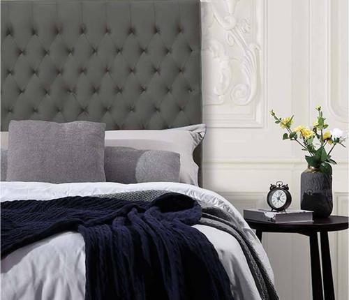 Velvet Luxe Bed Head | Charcoal