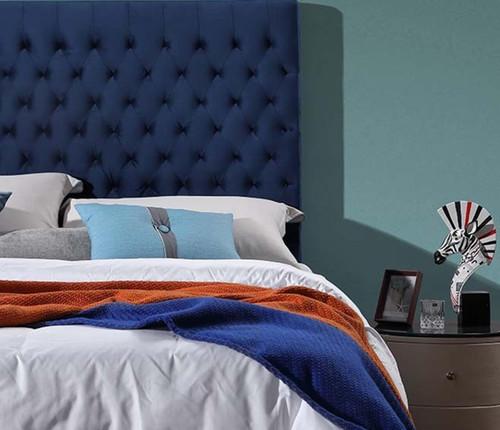 Velvet Luxe Bed Head | Navy Blue