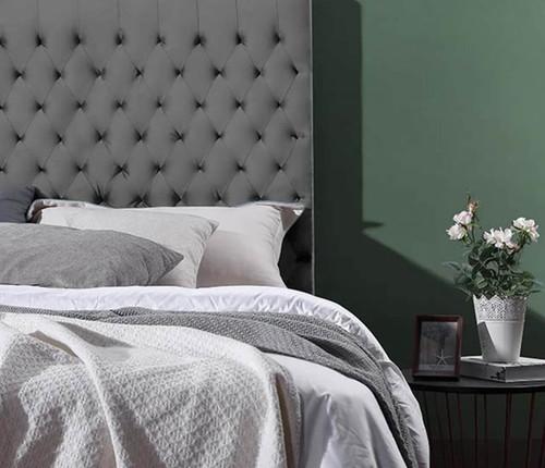 Velvet Luxe Bed Head | Silver Grey