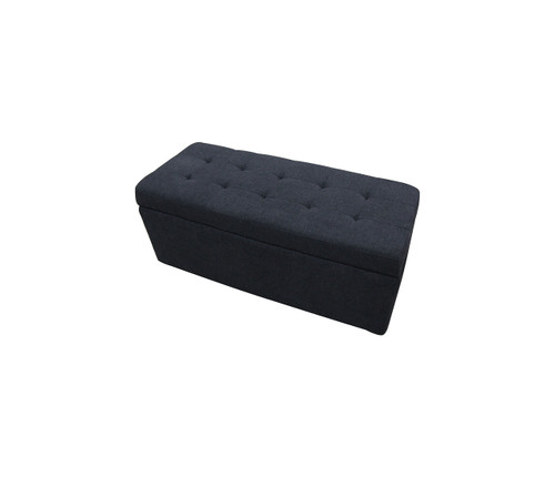 Paddington Storage Ottoman | Charcoal