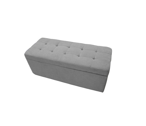 Paddington Storage Ottoman | Light Grey
