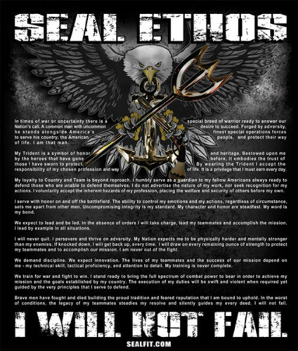 Navy SEAL Ethos Poster