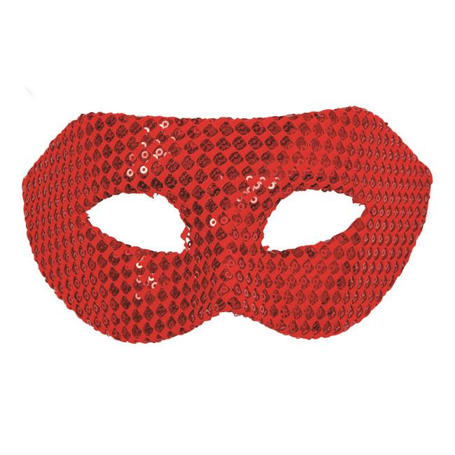 Sequin Eyemask Red