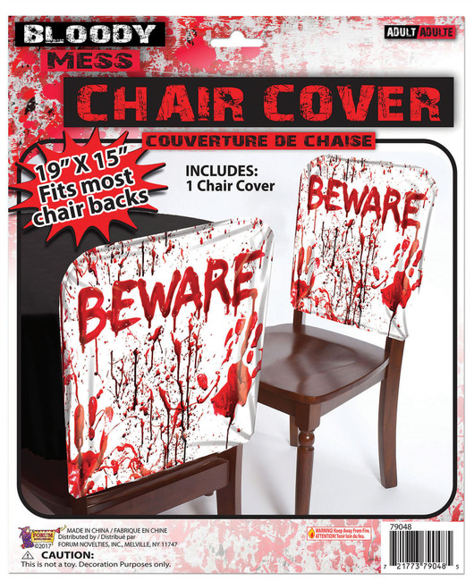 "Bloody ""Beware"" Chair Cover"