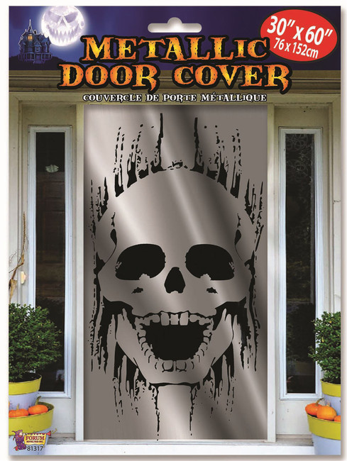 Skull Door Cover Metallic (75x150cm)