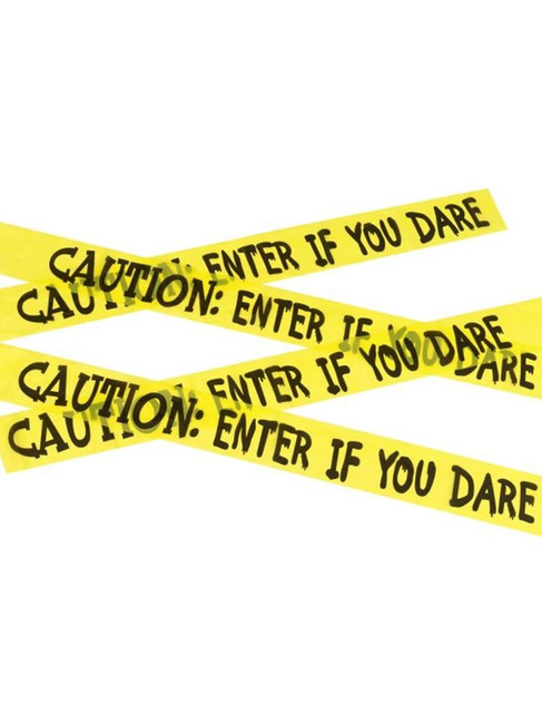 Caution Enter If You Dare Tape, Halloween Fancy Dress Accessories