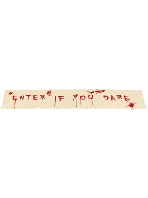 Enter If You Dare Bloody Banner Decoration,Halloween Fancy Dress Accessories