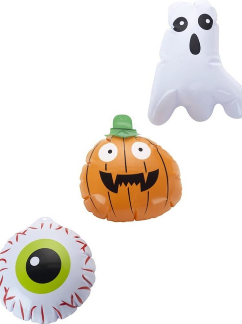Mini Halloween Inflatables, Set of 3, Halloween Fancy Dress Accessories