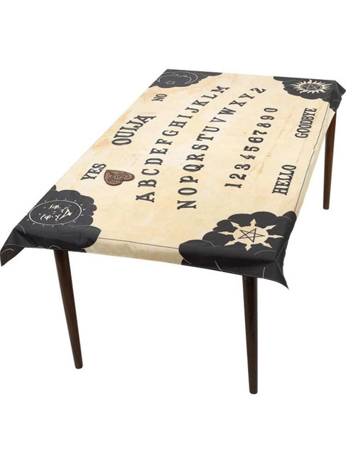 Ouija Board Table Cloth & Planchette Coaster,Halloween Fancy Dress Accessory