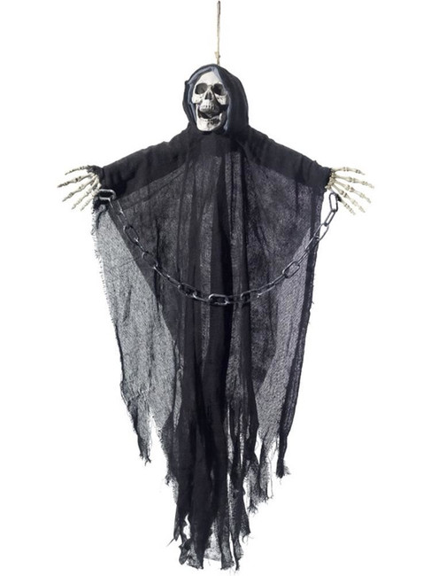 Hanging Reaper Skeleton Decoration, Halloween Fancy Dress Accessories