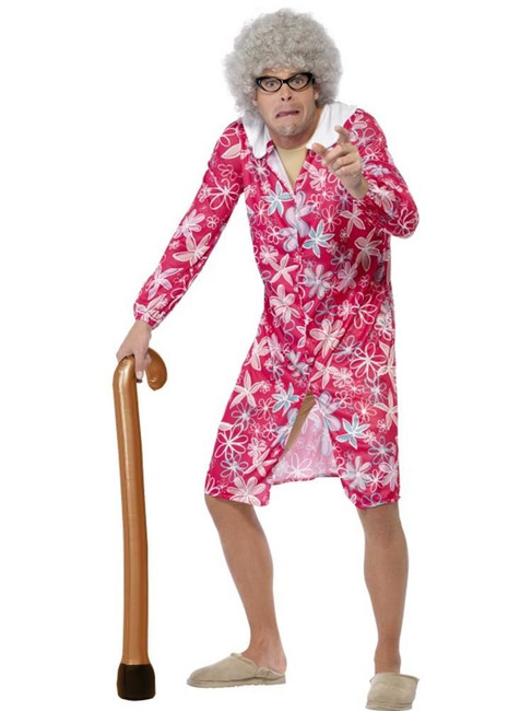Inflatable Walking Stick, Old Man/Lady/OAP,Blow Up Joke Gift, BROWN