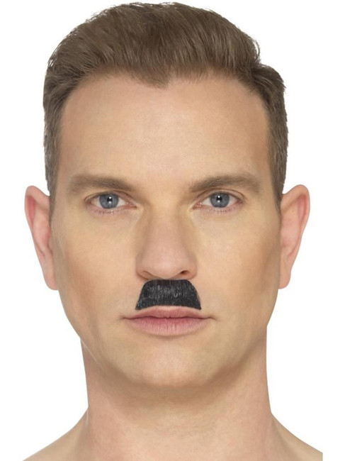 Black The Toothbrush Moustache, Beard's and Moustaches. One Size