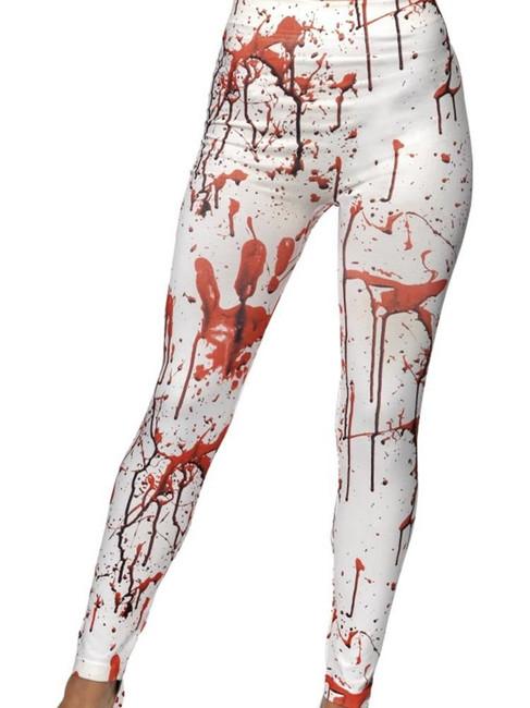 Horror Leggings, Halloween Fancy Dress, WHITE