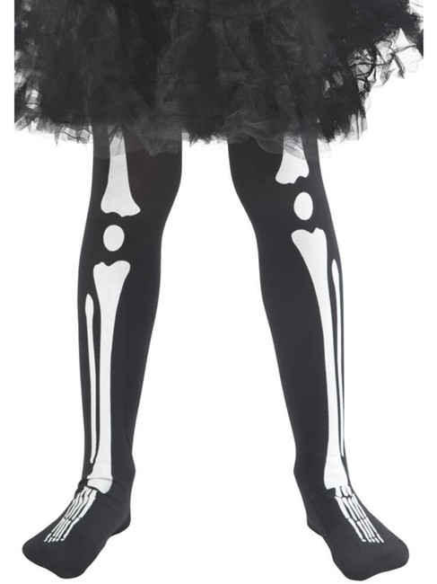 Skeleton Tights,Child,Children's Tights and Petticoats,Medium/Large Age 8-12