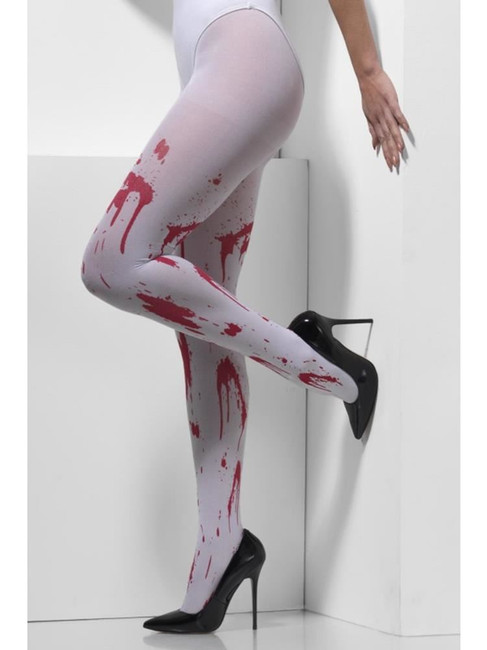 White Opaque Tights, Fever Hosiery. One Size