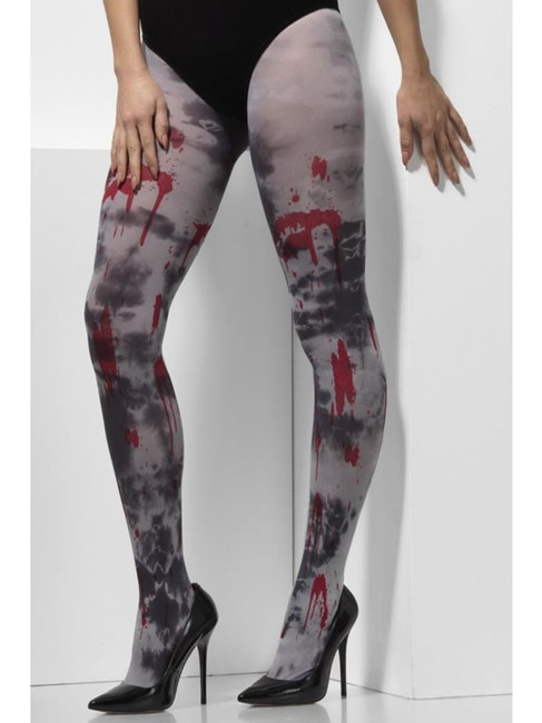 Grey Opaque Tights, Zombie Dirt, Fever Hosiery. One Size