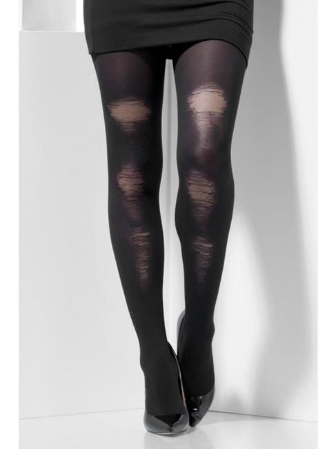 Opaque Tights, Halloween Fancy Dress, BLACK