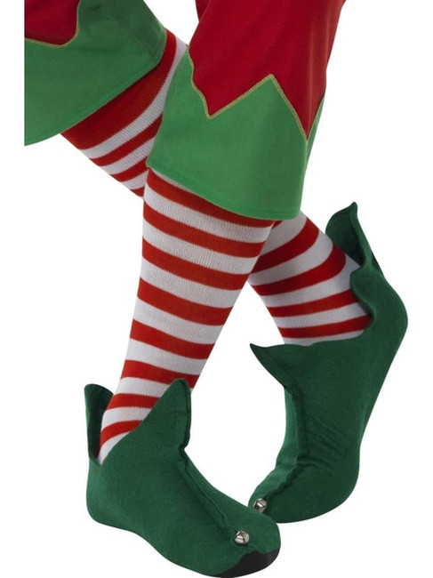 Striped Socks, Long, Adult Fancy Dress Costumes, RED & WHITE
