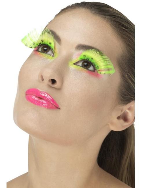 Neon Green 80's Polka Dot Eyelashes, Fever Eyelashes