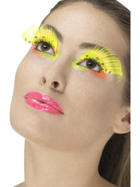 Neon Yellow 80's Polka Dot Eyelashes, Fever Eyelashes